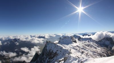 Germany - Mountain Zugspitze in winter