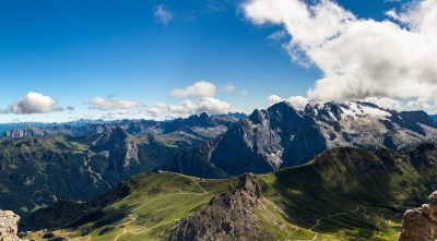 Italy - mountain Marmolada, awesome view, HD Wallpaper