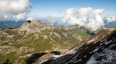 Switzerland, Bernese Alps - Mountain Schilthorn, clouds