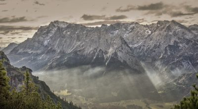 Germany - Mountain Zugspitze, morning fog