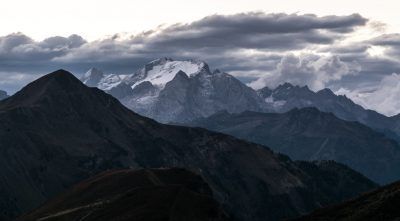 Italy - mountain Marmolada before the storm
