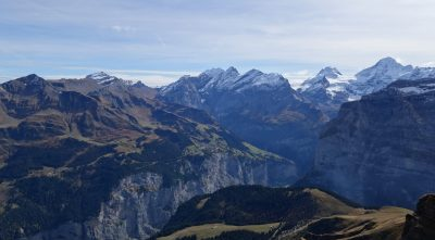 Switzerland, Bernese Alps - Mountain Schilthorn, amazing landscape