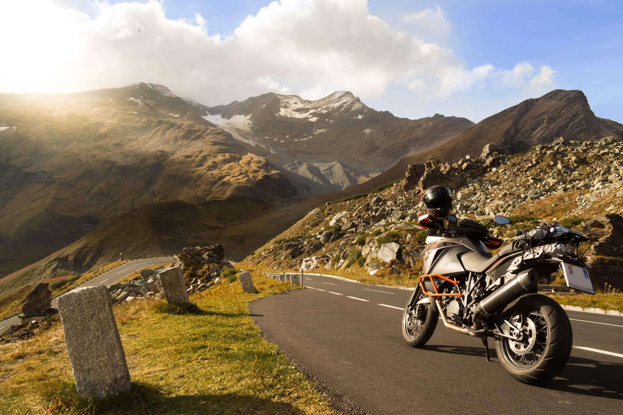 mountain, - Grossglockner, motorcycle