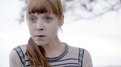 pictured - actress Antonia Campbell-Hughes as Agnes from DXM