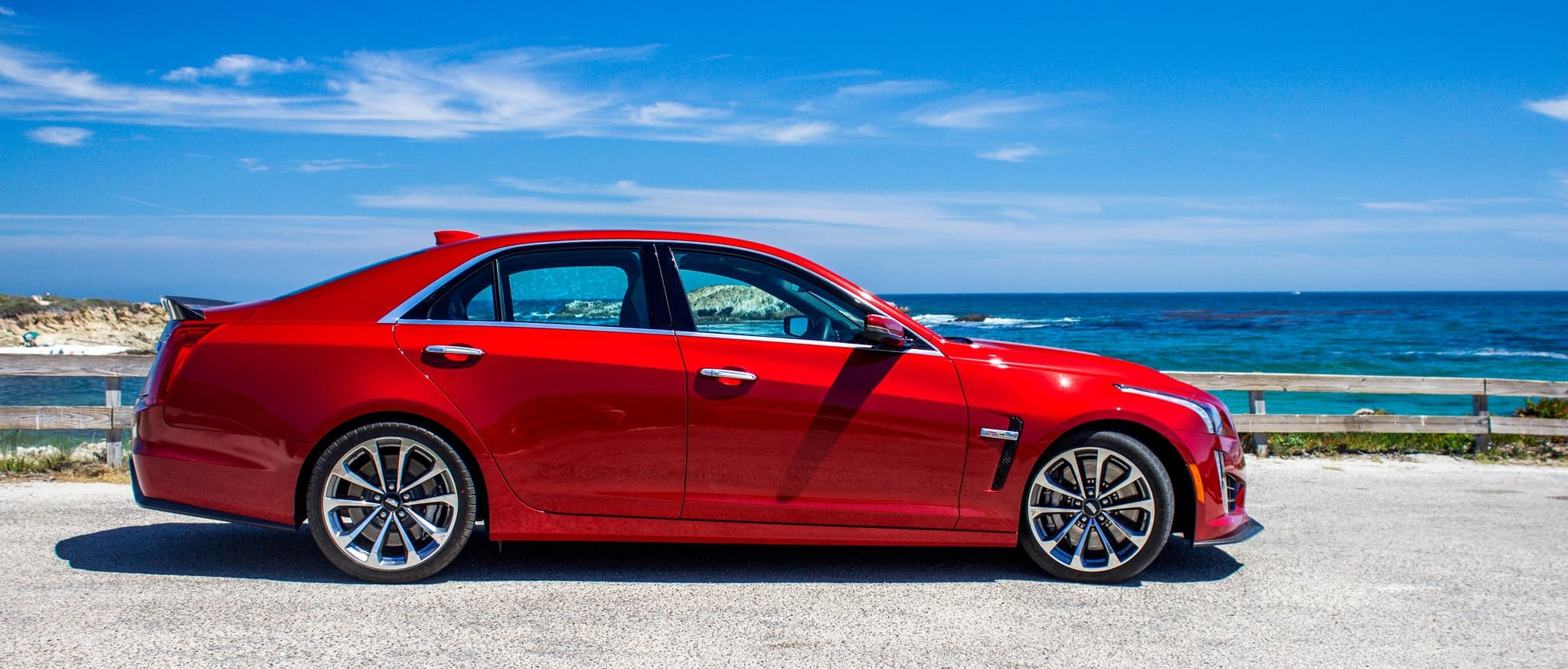 red Cadillac CTS 2017 pictures