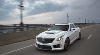 white Cadillac CTS 2017 HD wallpaper