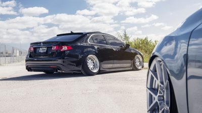 2017 black Acura TSX on rotiform wheels in high resolution