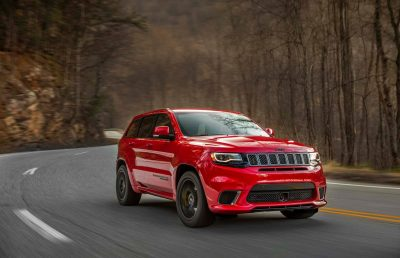 wallpaper of Jeep Grand Cherokee Trackhawk 2018 On Road
