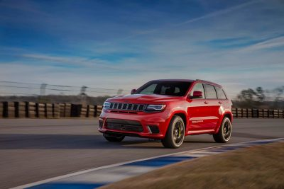 2018 Grand Cherokee Jeep Trackhawk in Red Colour