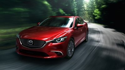 Red Mazda 6 2017 Sedan in High resolution
