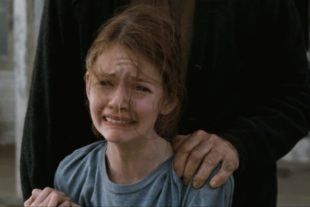 Mackenzie Foy is crying