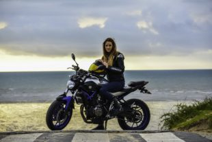girl on the yamaha mt 07