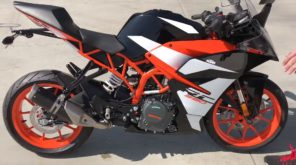 2017 red black KTM RC390 R