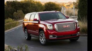GMC yukon denali in red colour