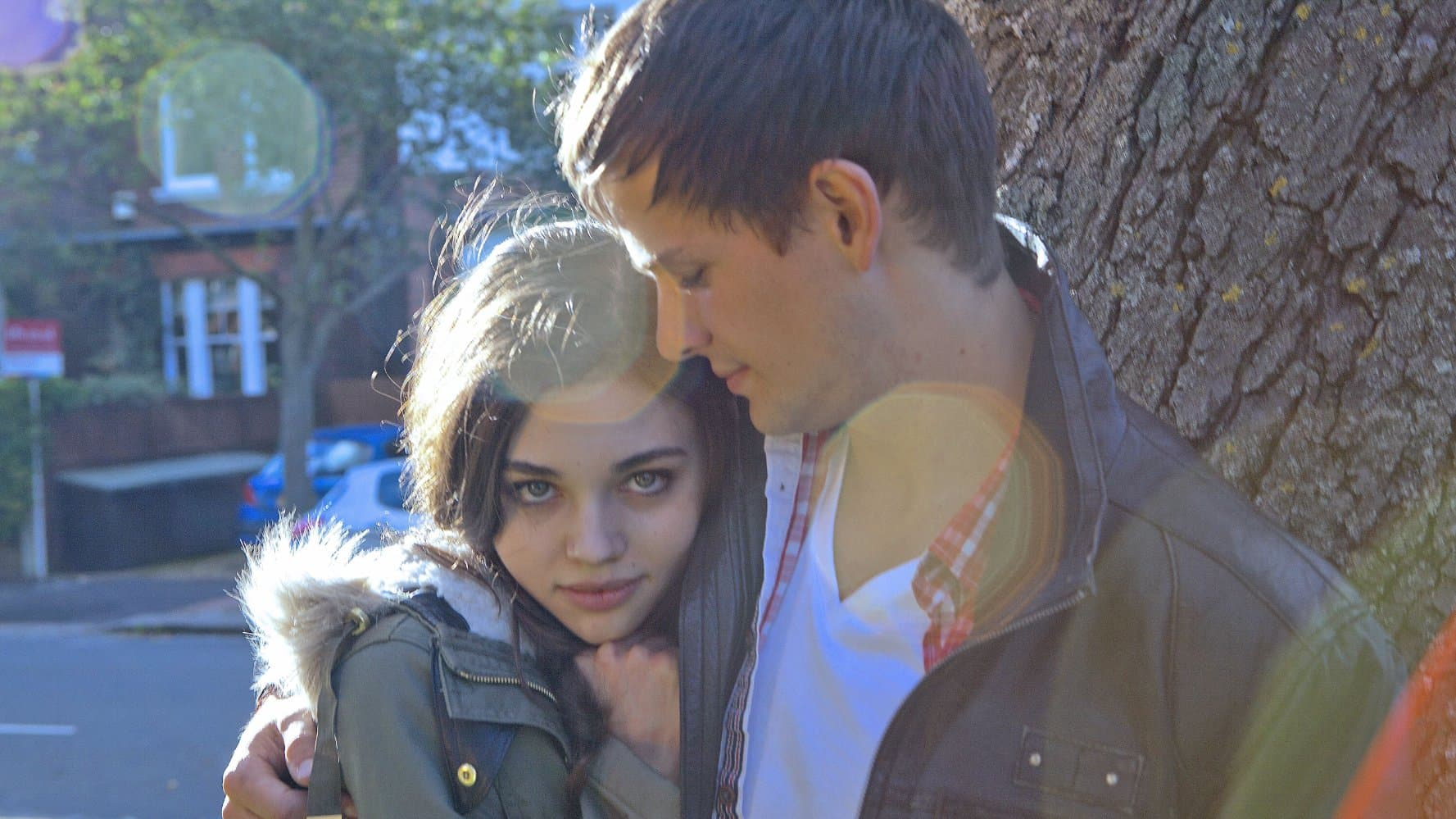 India Eisley with a boy