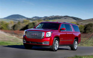 red GMC yukon denali