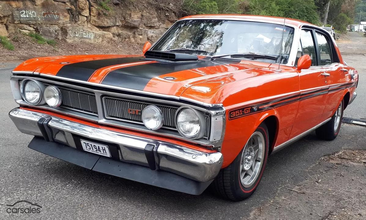1971 red Ford Falcon GT XY