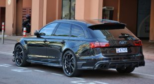 black Audi RS 6 Avant Performance