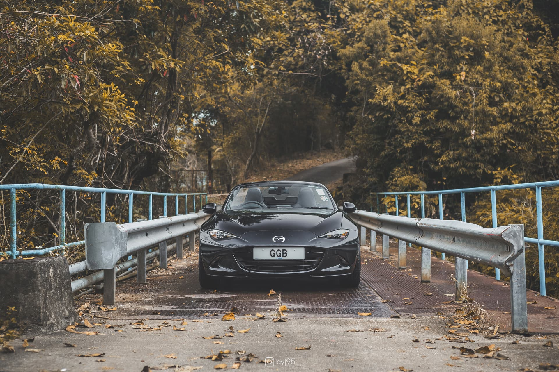 Mazda MX-5 on a bridge