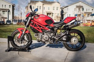 red Ducati Monster 796 ABS