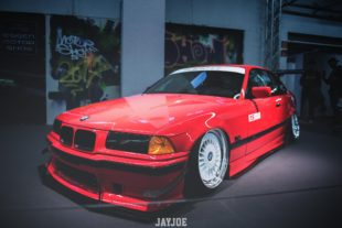 red lowered BMW 3 E36