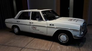 white Mercedes Benz 230 1971