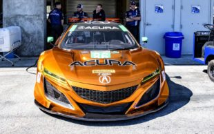 2017 golden Acura NSX - front bumper