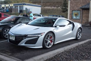 2017 gray Acura NSX at a street