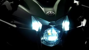 2018 Kawasaki Ninja H2SX headlight at night