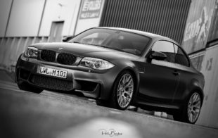 black BMW 1M Coupe