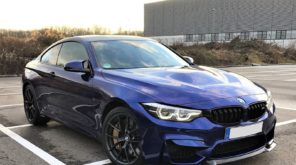 blue BMW M4 coupe