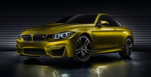 green BMW M4 coupe
