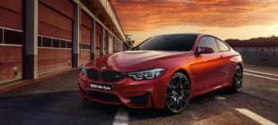 red BMW M4 coupe