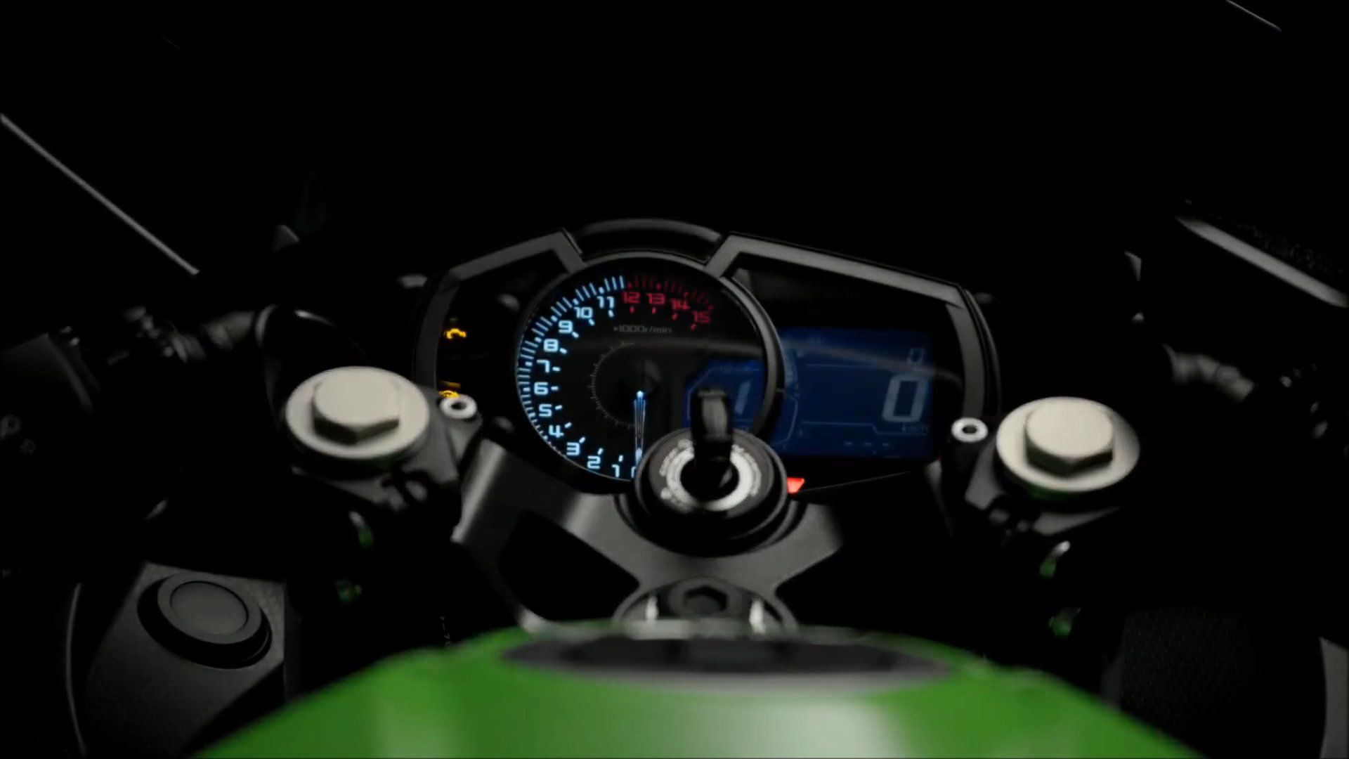 2018 Kawasaki Ninja 400 dashboard at night