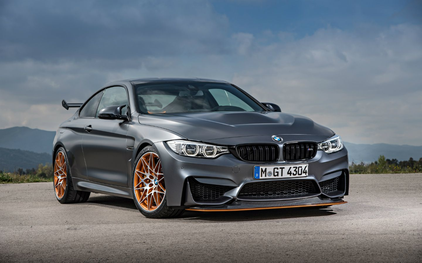 BMW M4 with angry angel eyes