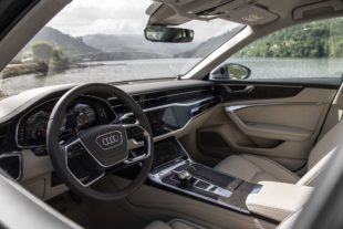 2019 Audi A6 white leather interior