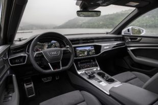 2019 Audi A6 black leather interior