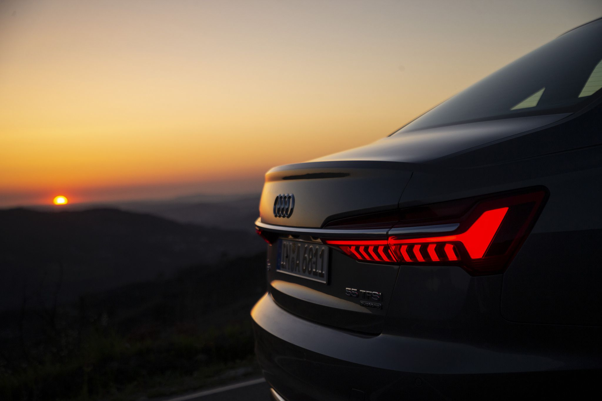 2019 Audi A6 at sunset