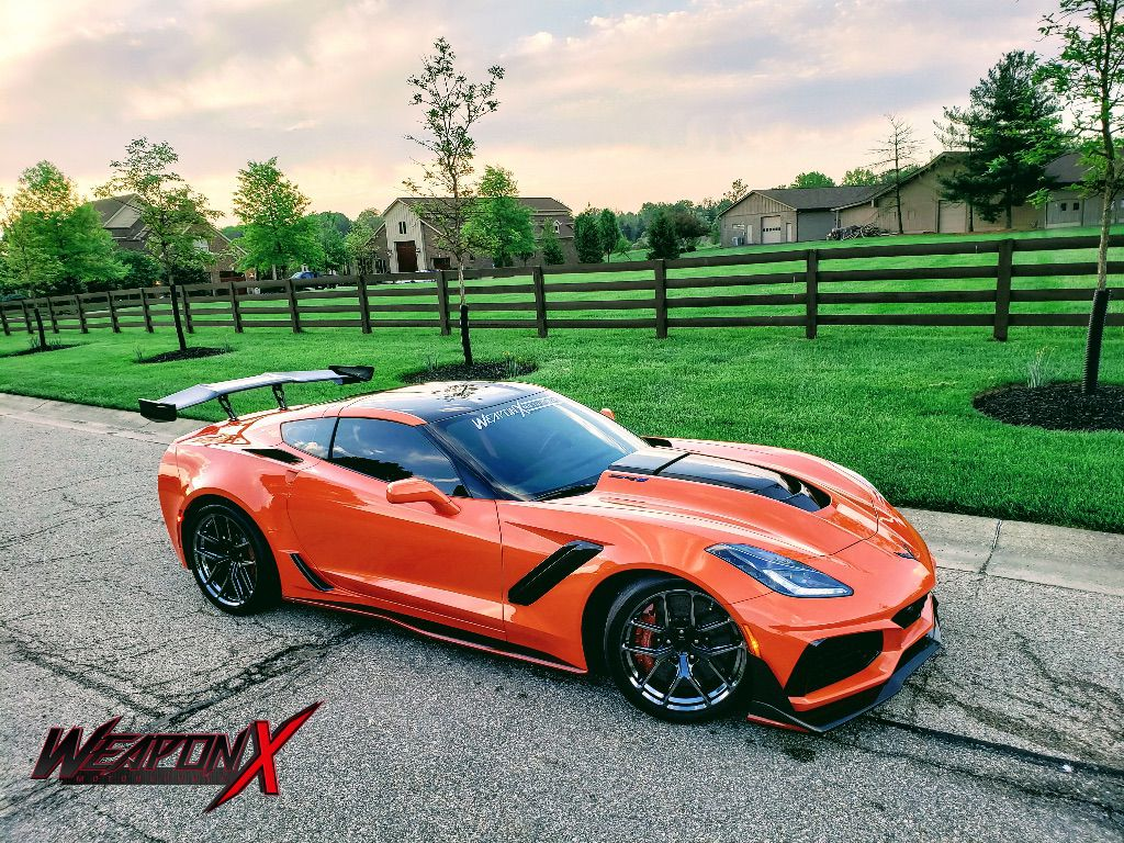 2019 Corvette Zr1 Orange Sport Car