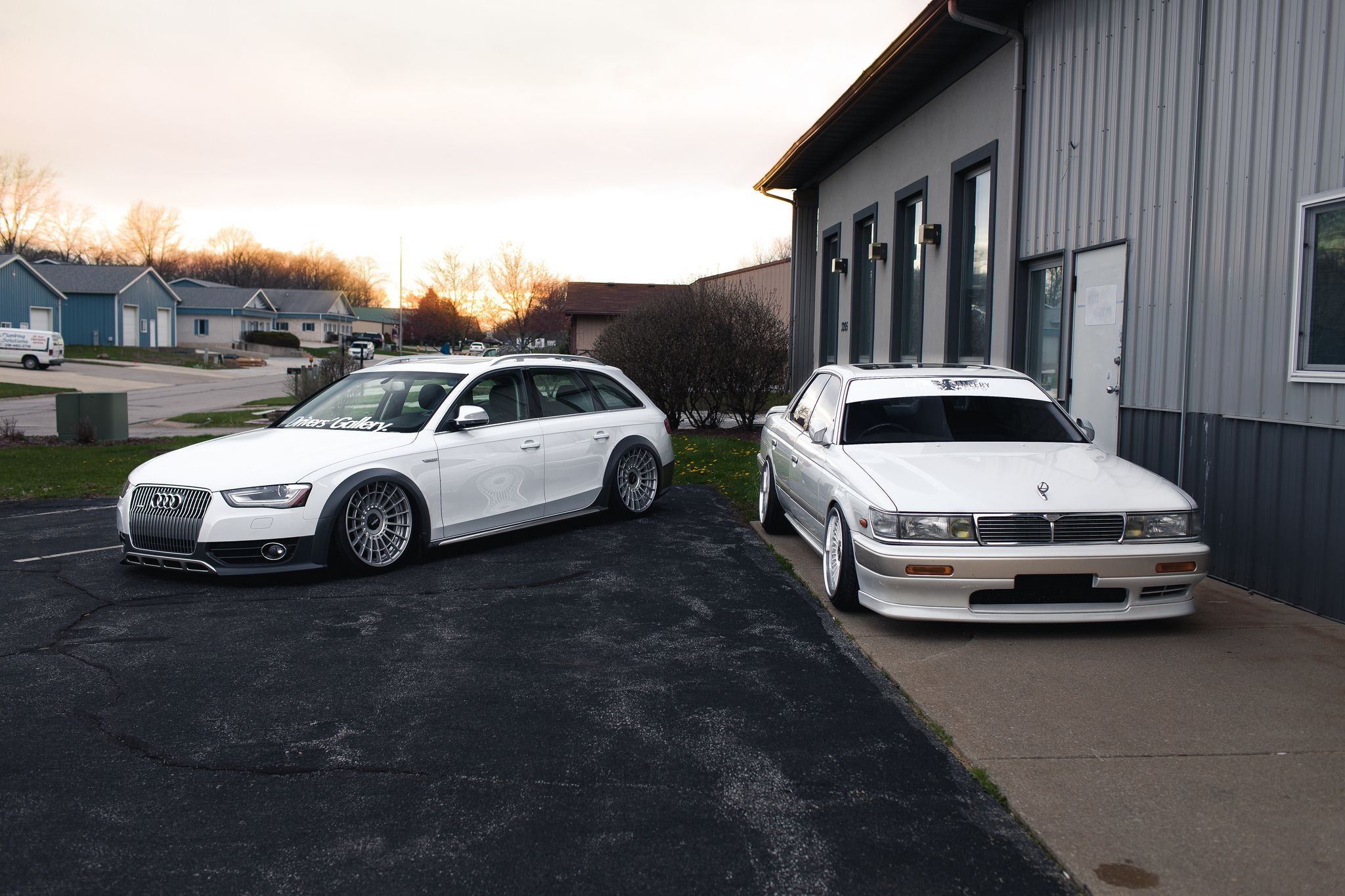 Nissan Laurel and tuned Audi allroad