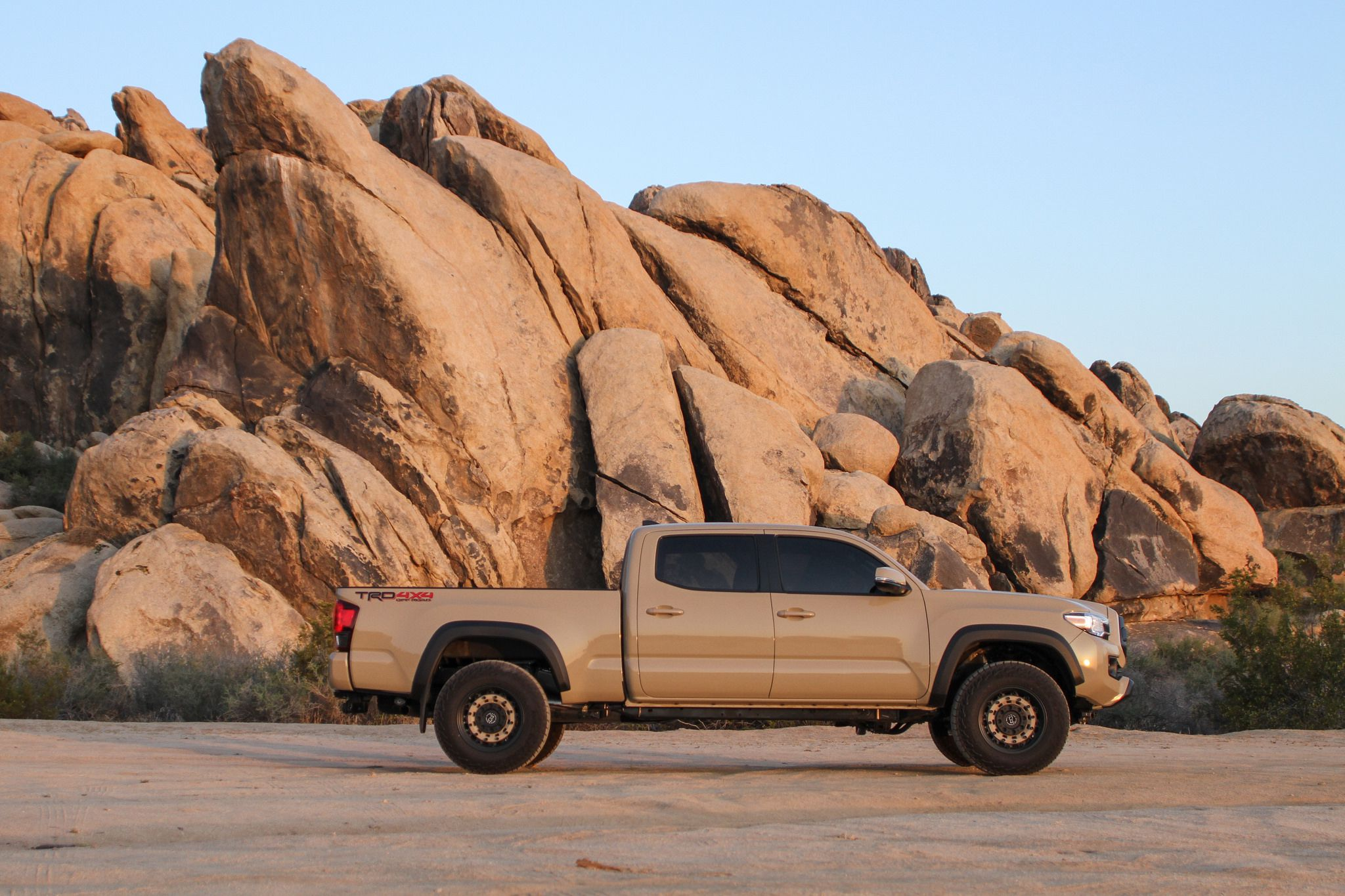 Toyota Tacoma at mountain background