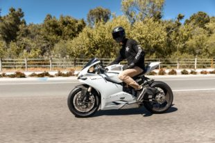 001 ducati 1199 panigale on a road
