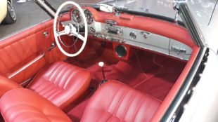 red interior and dashboard