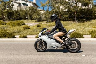 ducati 1199 panigale with a man in HD