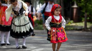 little girl in national dress
