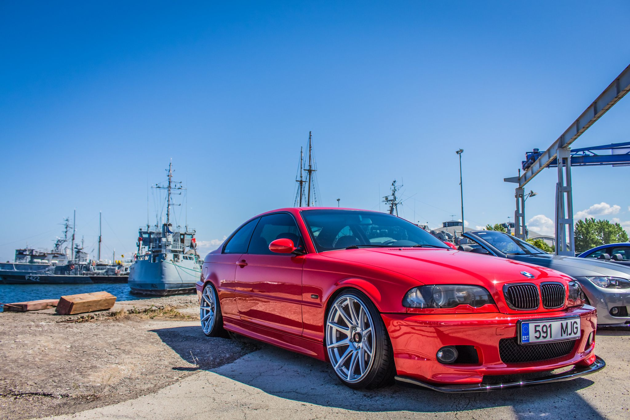 Red BMW M3 E46 by Aleksei Volkov