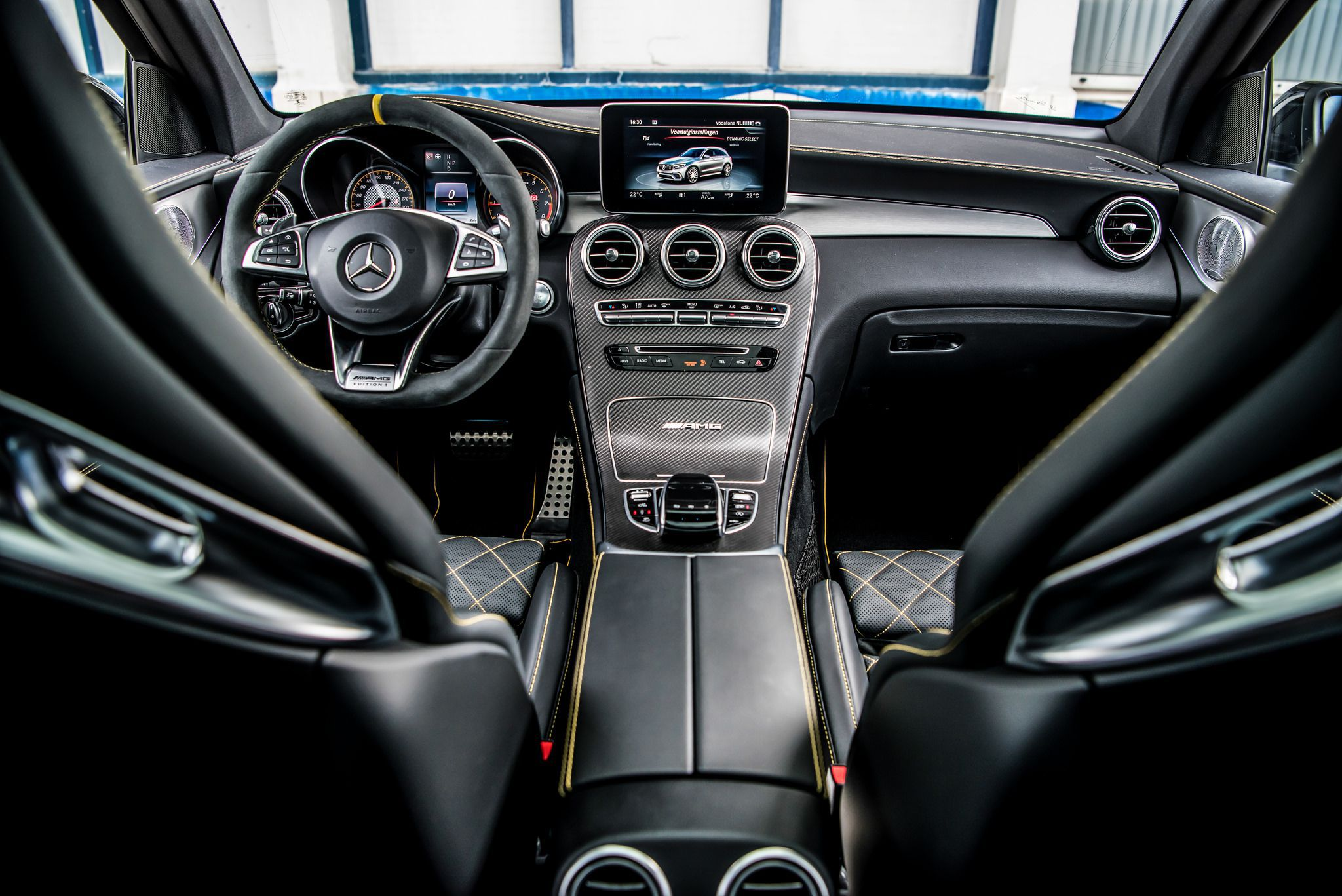 001 interior of Mercedes Benz AMG 2018 GLC63