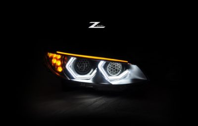02 front lights of BMW M3 E92
