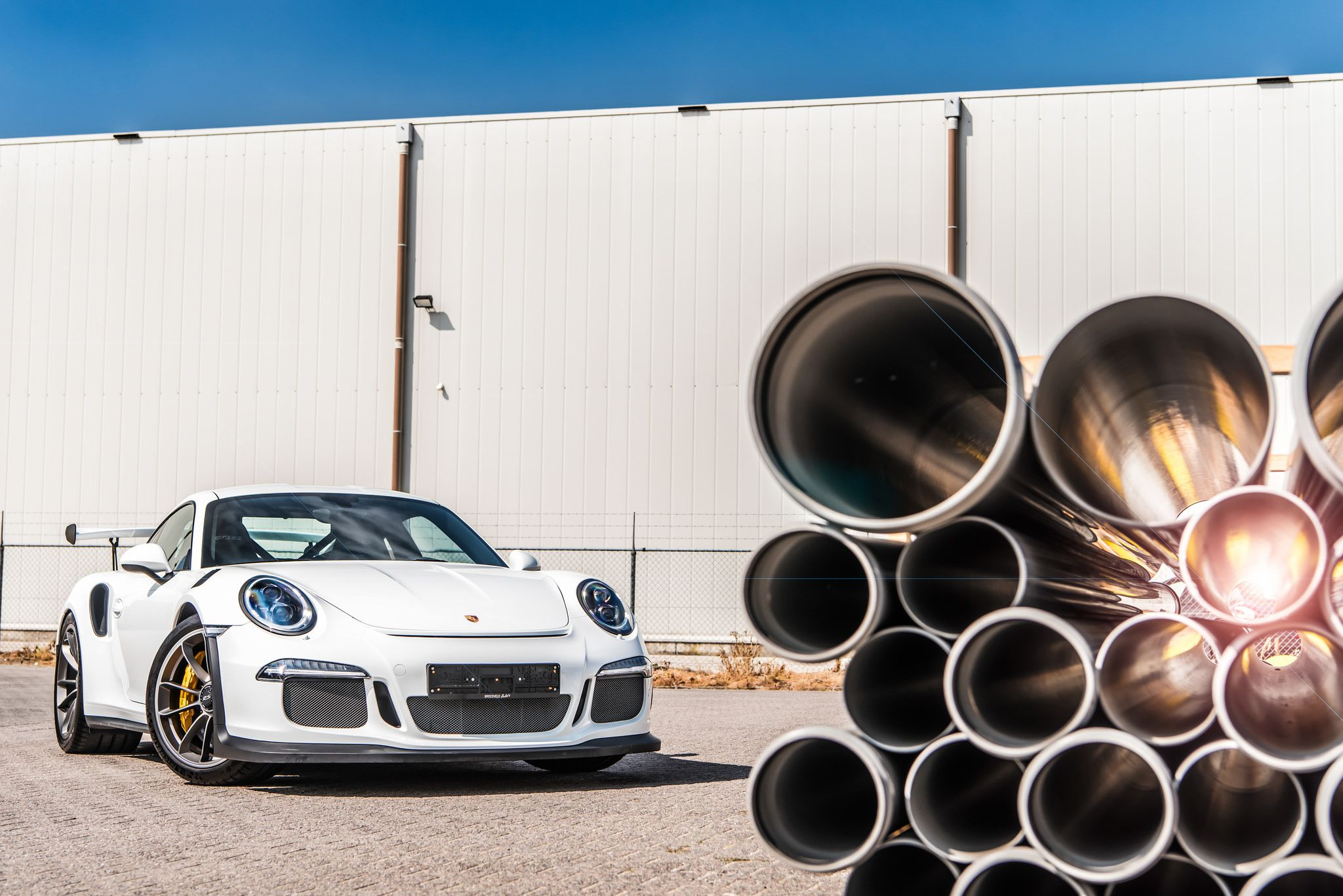 2018 white Porsche GT3 RS by Bas Fransen