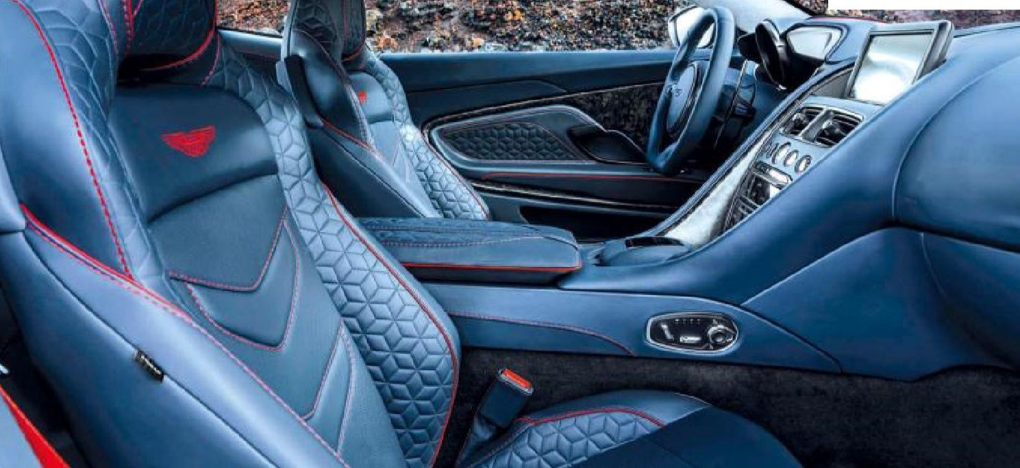 2019 Aston Martin Dbs Superleggera Black Leather Interior